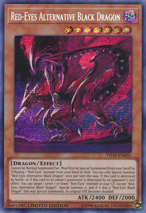 DRL2-EN012 Red-Eyes Black Dragon Sword Secret Rare 1st edition Mint YuGiOh Card