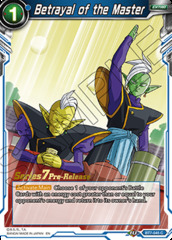 Betrayal of the Master - BT7-045 - C - Pre-release (Assault of the Saiyans)