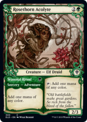 Rosethorn Acolyte // Seasonal Ritual - Foil - Showcase