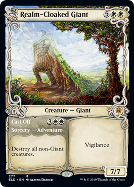 Realm-Cloaked Giant // Cast Off - Foil - Showcase