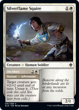 Silverflame Squire // On Alert - Foil