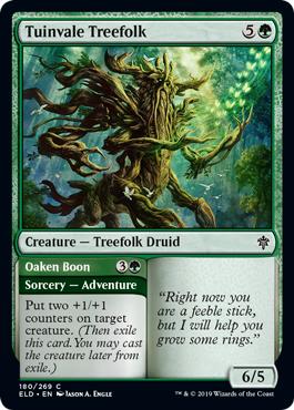 Tuinvale Treefolk // Oaken Boon - Foil