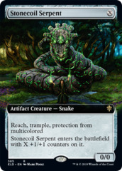 Stonecoil Serpent - Foil - Extended Art