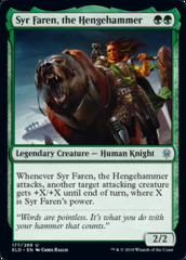 Syr Faren, the Hengehammer - Foil