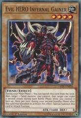 Evil HERO Infernal Gainer - LED5-EN018 - Common - 1st Edition on Channel Fireball