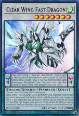 Clear Wing Fast Dragon - DUDE-EN011 - Ultra Rare - 1st Edition on Channel Fireball