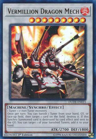 Vermillion Dragon Mech - DUDE-EN015 - Ultra Rare - 1st Edition