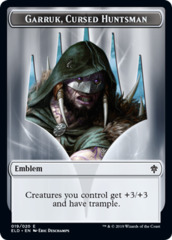 Emblem - Garruk, Cursed Huntsman - Foil