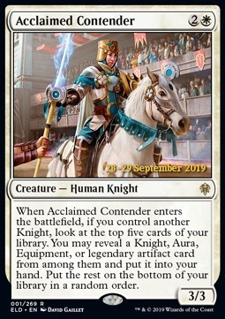 Acclaimed Contender - Foil Prerelease Promo