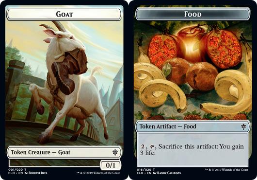 Goat Token // Food Token (016) - Foil