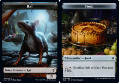 Rat Token // Food Token (015) - Foil