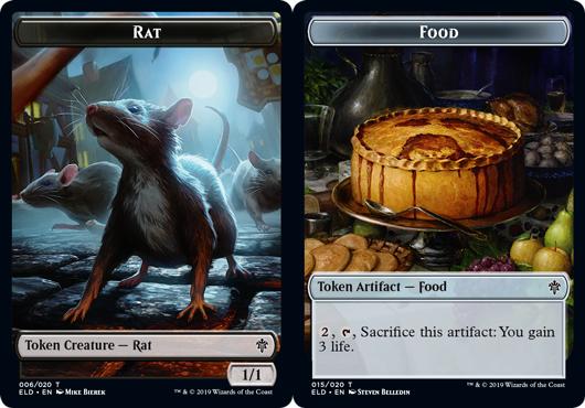 Rat Token // Food Token (015) - Foil