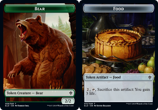Bear Token // Food Token (015) - Foil
