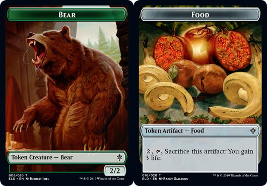 Bear Token // Food Token (016) - Foil