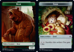 Bear Token // Food Token (017) - Foil (ELD)