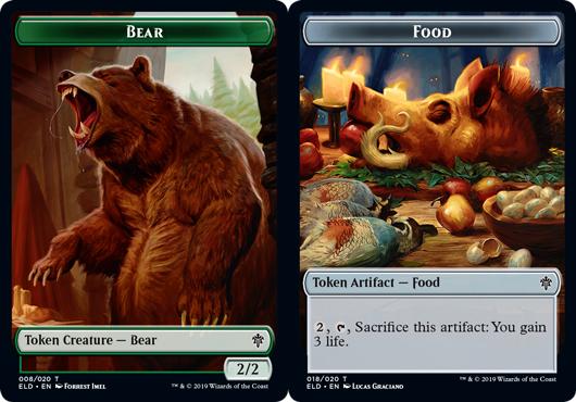 Bear Token // Food Token (018) - Foil
