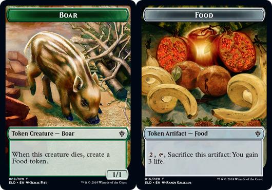 Boar Token // Food Token (016) - Foil