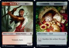Human Warrior Token // Food Token (017) - Foil