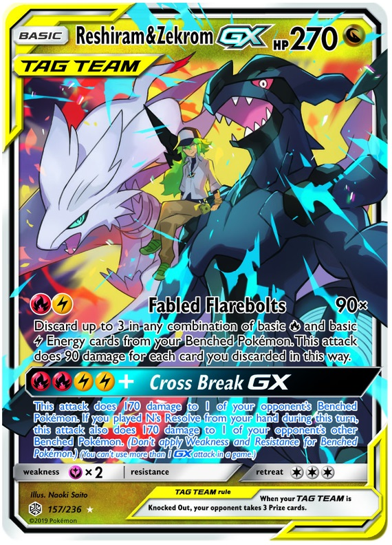 Reshiram & Zekrom Tag Team GX - 157/236 - Ultra Rare