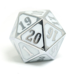 MTG Roll Down Counter - Shiny Silver w/ White