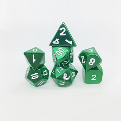 Old School RPG Metal Dice: Halfling Forged - Electric Green