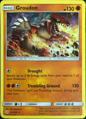 Groudon - 113/236 - Cracked Ice Holo Towering Heights Theme Deck Exclusive