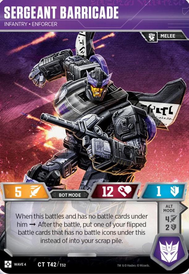 Sergeant Barricade // Infantry Enforcer