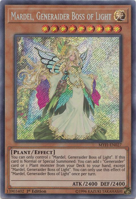 Mardel, Generaider Boss of Light - MYFI-EN027 - Secret Rare - 1st Edition