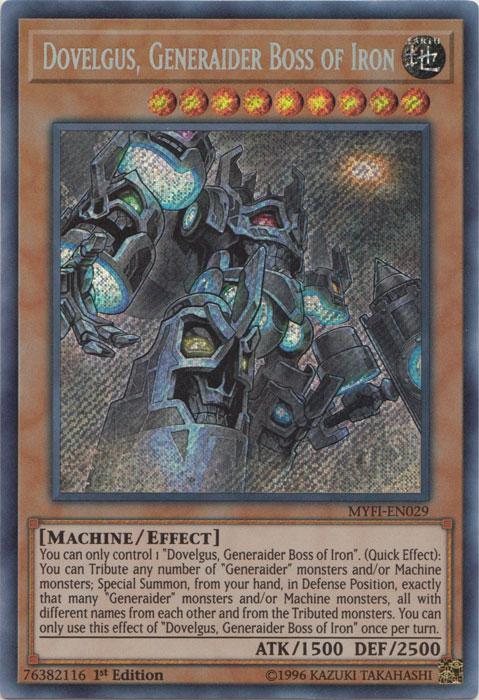 Dovelgus, Generaider Boss of Iron - MYFI-EN029 - Secret Rare - 1st Edition