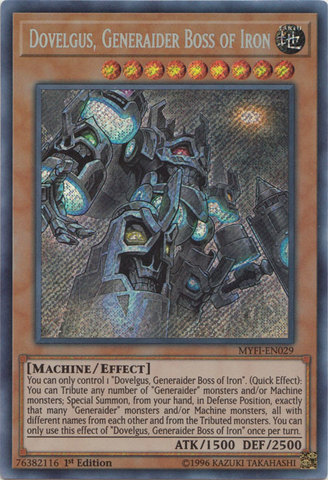 Dovelgus, Generaider Boss of Iron - MYFI-EN029 - Secret Rare - 1st Edition