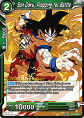 Son Goku, Prepping for Battle - BT8-046 - C - Pre-release (Malicious Machinations)