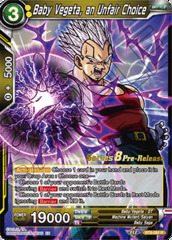 Baby Vegeta, an Unfair Choice - BT8-082 - R - Pre-release (Malicious Machinations)