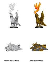 Nolzur's Marvelous Miniatures - Gold Dragon Wyrmling & Small Treasure Pile