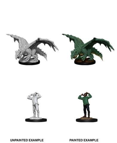 Nolzurs Marvelous Miniatures - Green Dragon Wyrmling & Afflicted Elf
