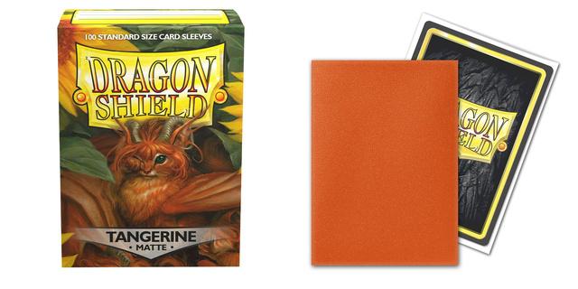 Dragon Shield - Matte Tangerine 100 Count Standard Sleeves