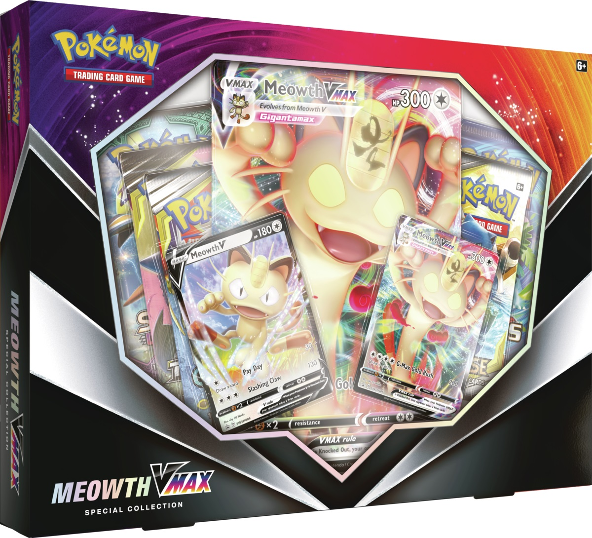 Pokemon Meowth VMAX Special Collection