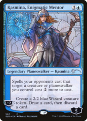 Kasmina, Enigmatic Mentor - Foil - Stained Glass