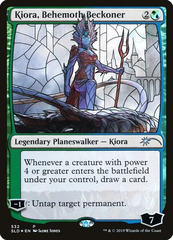Kiora, Behemoth Beckoner - Foil - Stained Glass