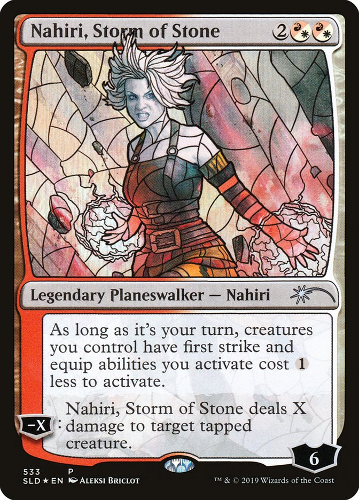 Nahiri, Storm of Stone - Foil - Stained Glass