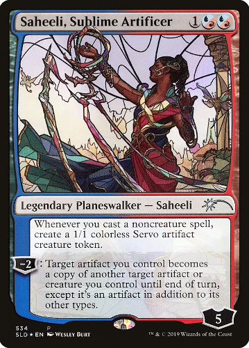 Saheeli, Sublime Artificer - Foil - Stained Glass
