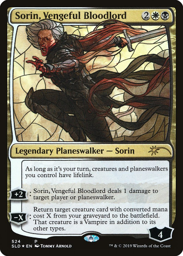 Sorin, Vengeful Bloodlord - Foil - Stained Glass