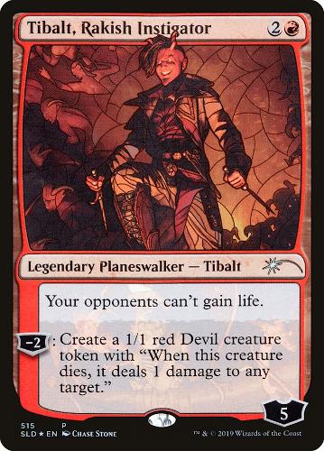 Tibalt, Rakish Instigator - Foil - Stained Glass