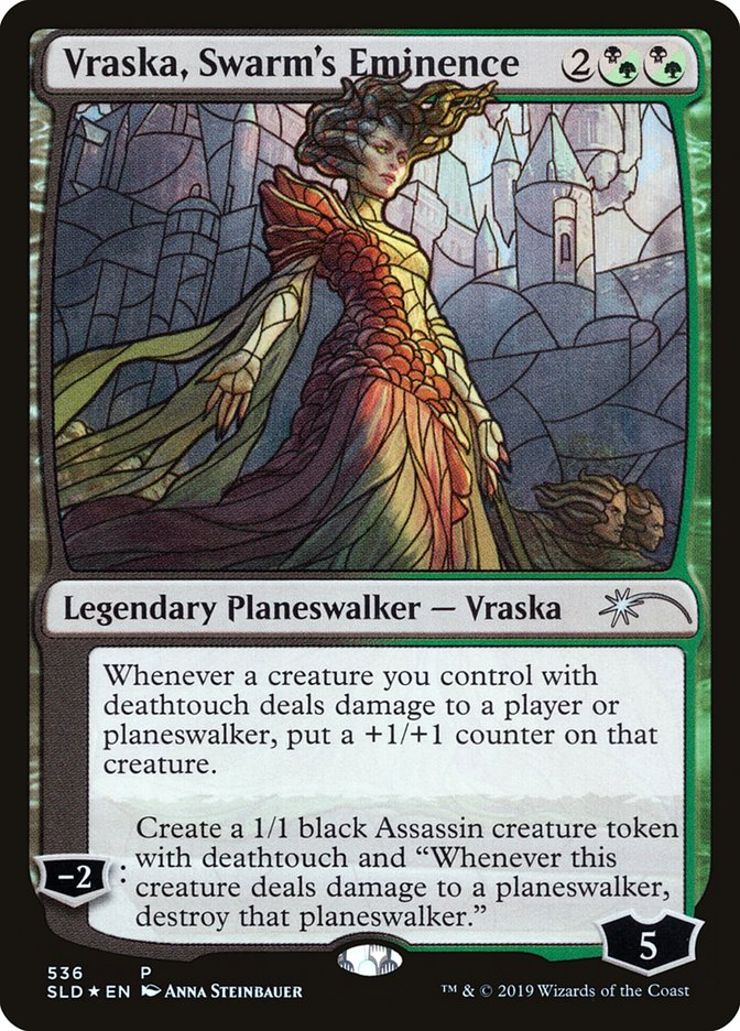 Vraska, Swarms Eminence - Foil - Stained Glass