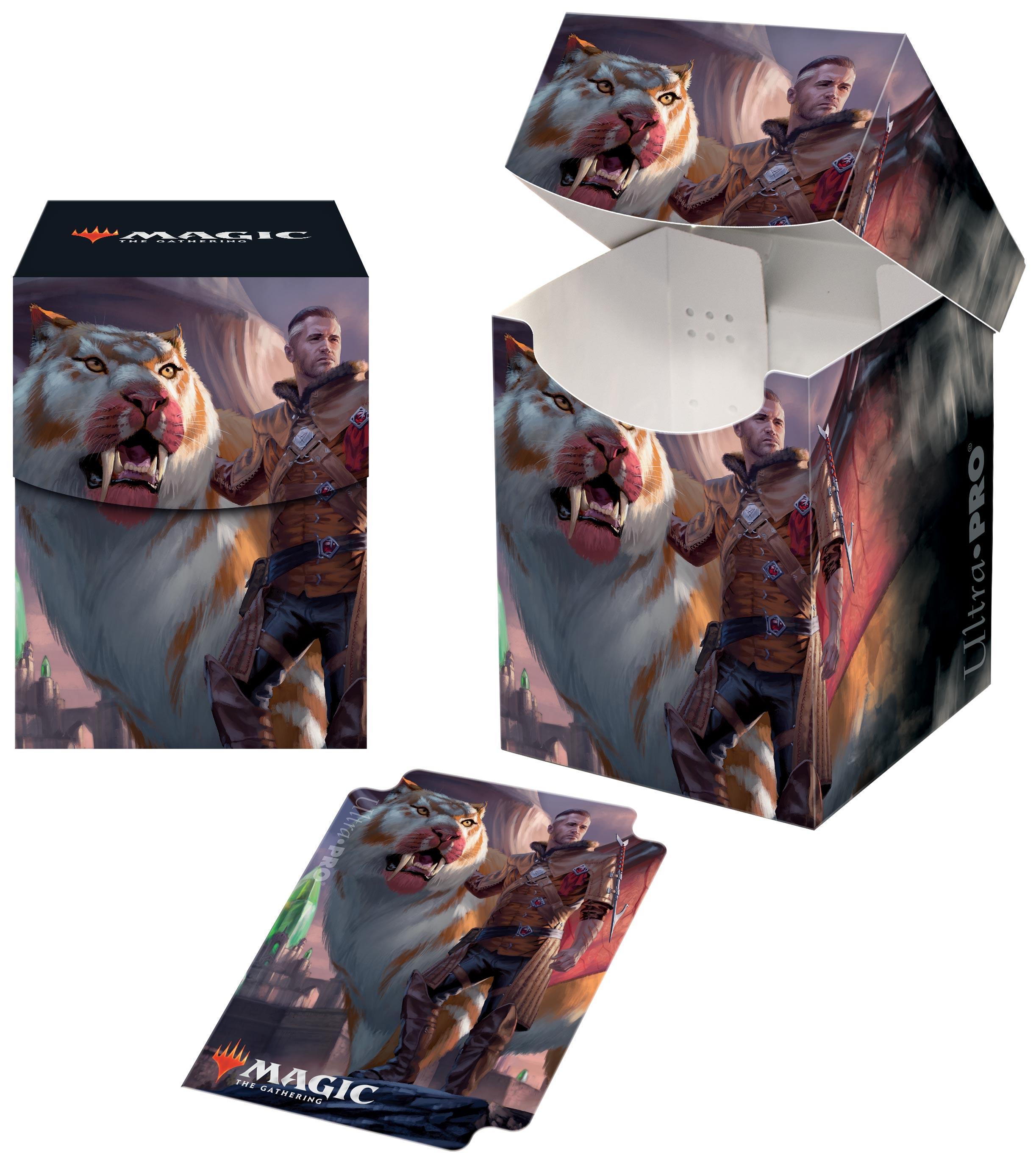 Ultra Pro - Ikoria: Lair of Behemoths PRO 100+ Deck Box - Lukka, Coppercoat Outcast