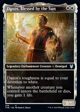 Daxos, Blessed by the Sun - Foil - Showcase