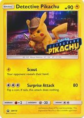 Detective Pikachu (Stamped) - SM170 - SM Black Star Promo