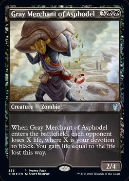 Gray Merchant of Asphodel - Foil Dark Frame Promo