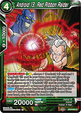Android 13, Red Ribbon Raider - BT9-044 - C - Foil