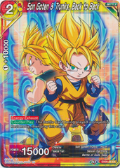 Son Goten & Trunks, Back to Back - EX09-05 - EX - Foil