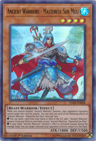 Ancient Warriors - Masterful Sun Mou - IGAS-EN008 - Ultra Rare - 1st Edition